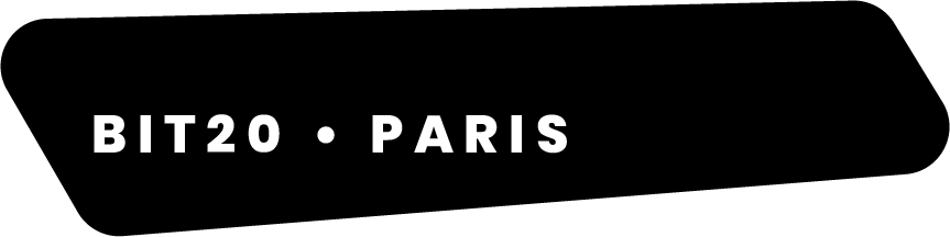 Logo BIT20 Paris black and white